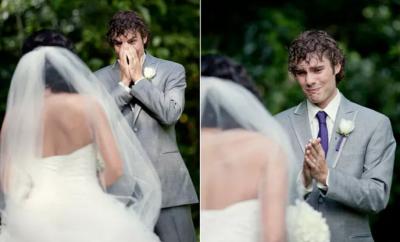 Cele mai emoționante reacții ale mirilor când și-au văzut miresele