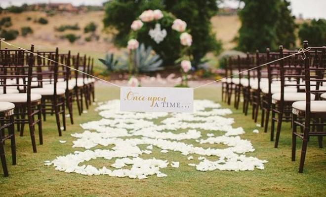 nuntă în aer liber