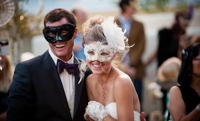 Organizarea nunții în stil venețian cu măști