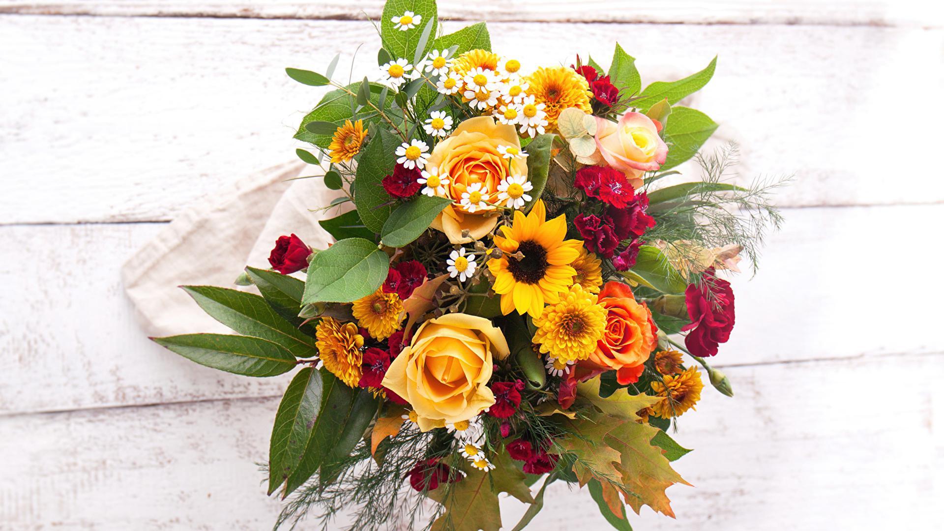 Buchet de mireasa cu crizanteme