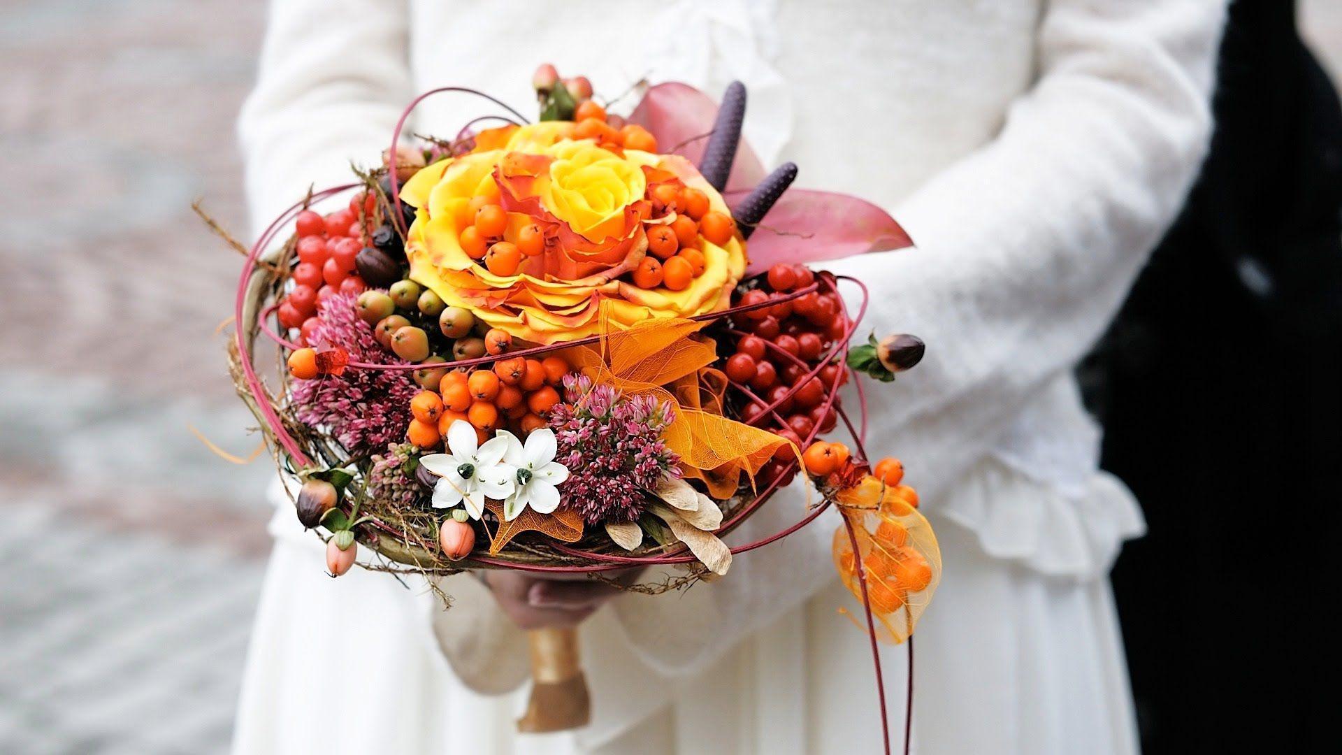buchet cu flori de toamna