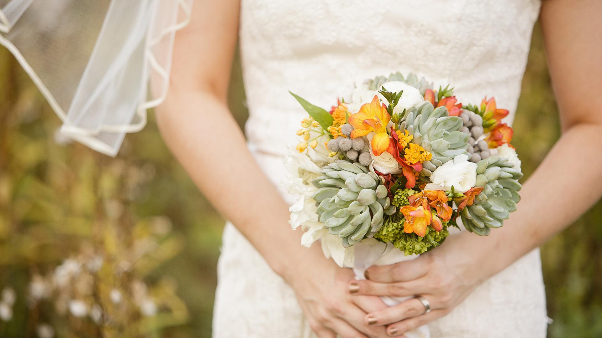 buchet mireasa flori de toamna