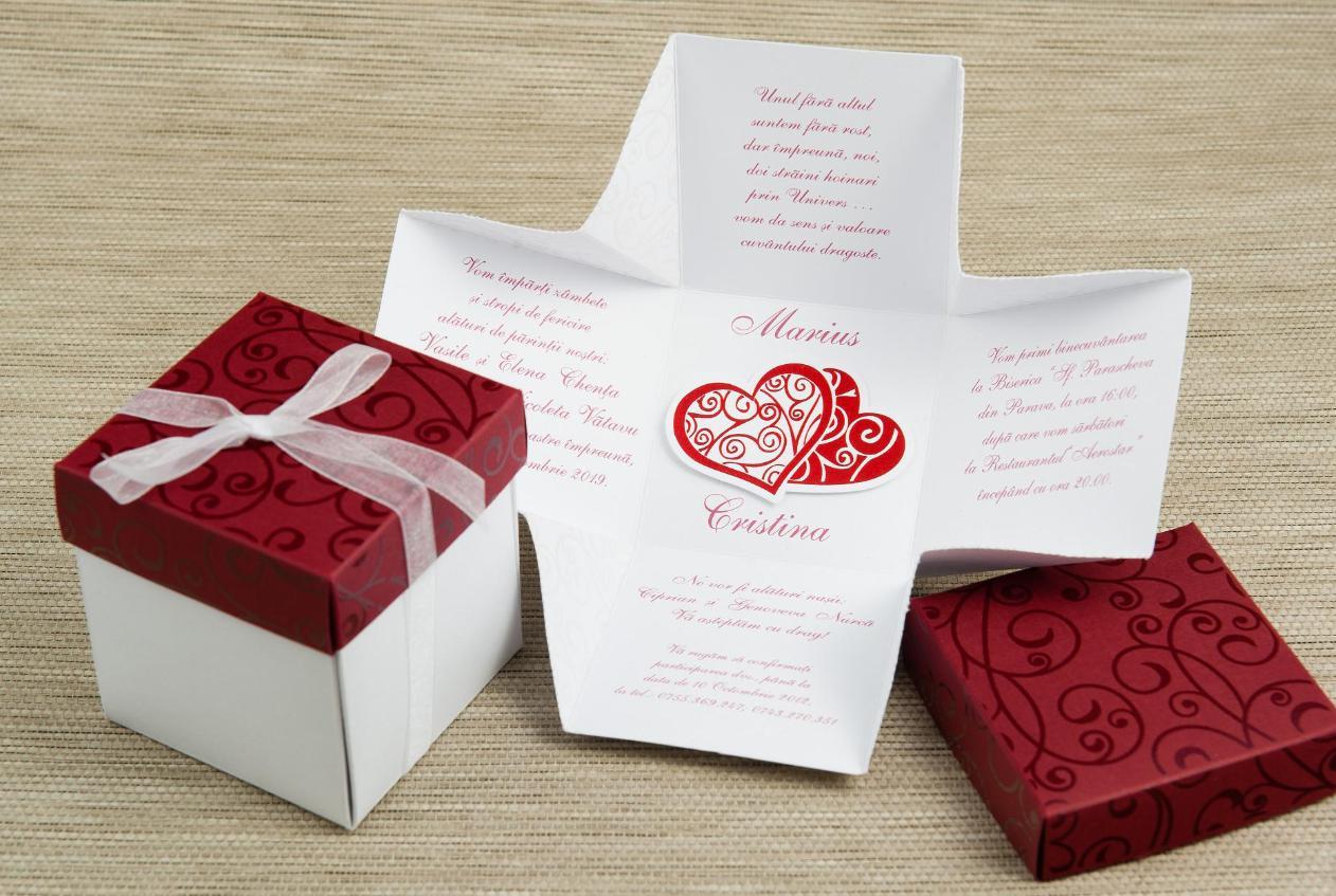 invitatie nunta cutie