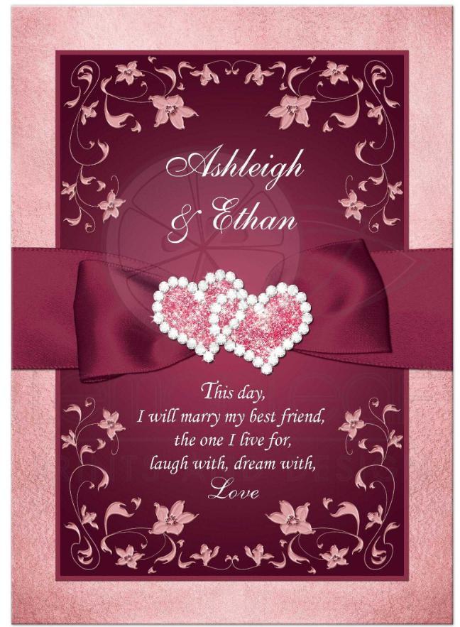 invitatie nunta romantica