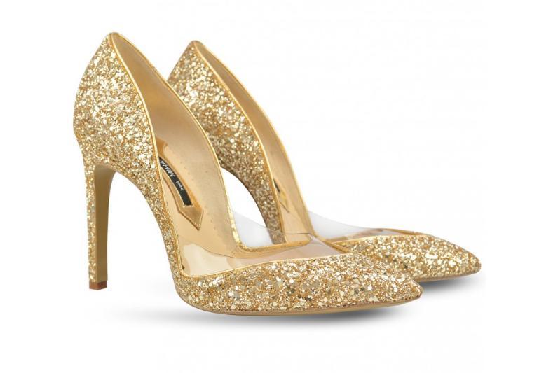 pantofi de mireasa Mihai Albu aurii