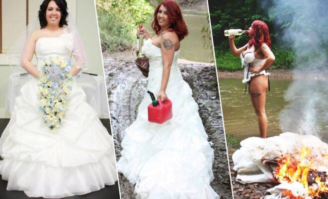 """Top 15 idei pentru sedinta foto """"Trash the Dress"""""""