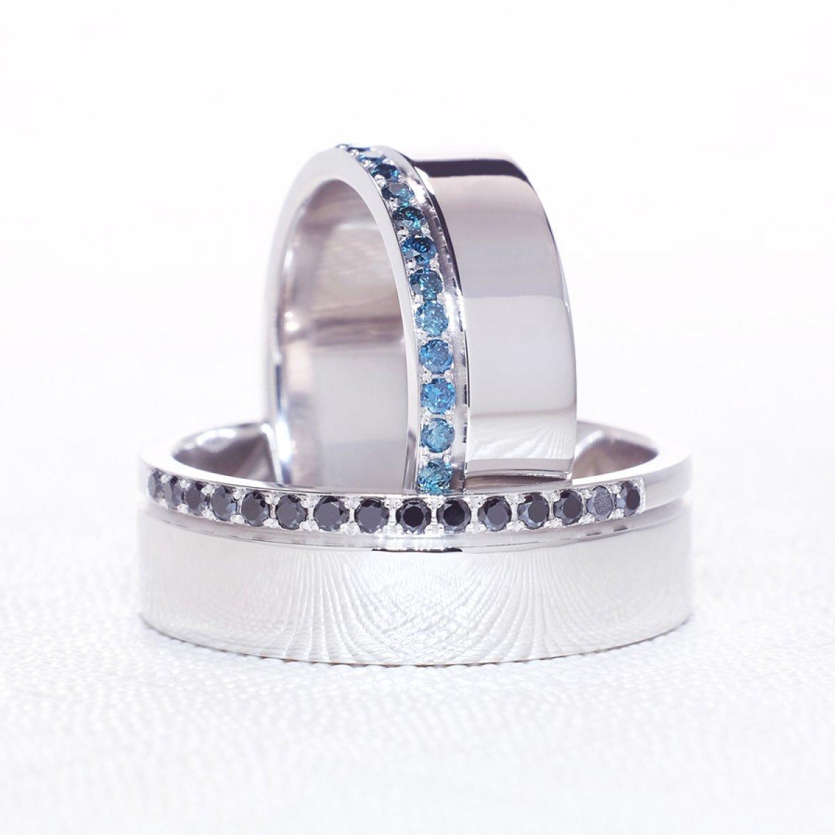 Verighete cu diamante colorate