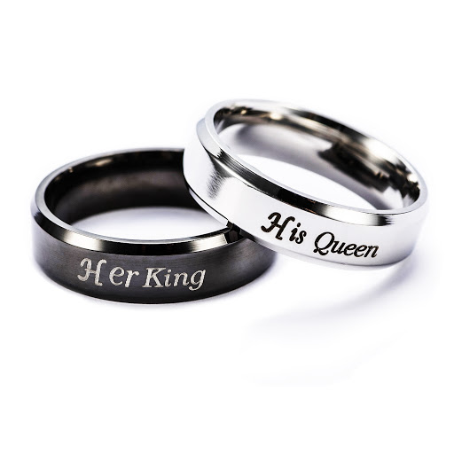 Verighete personalizate ,,Queen & King""