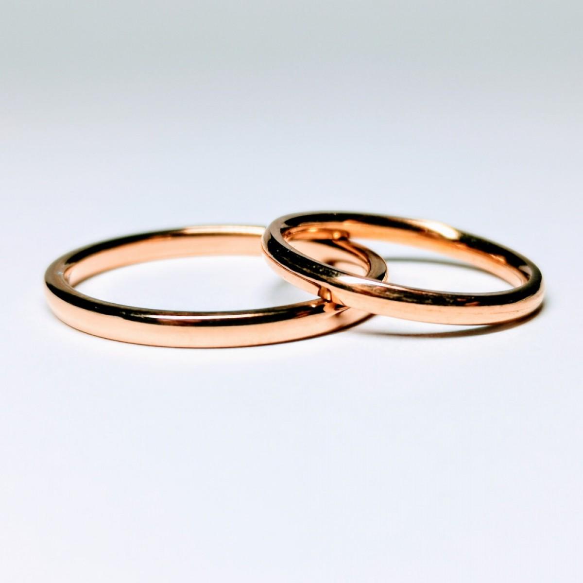 Verighete subtiri din aur roz